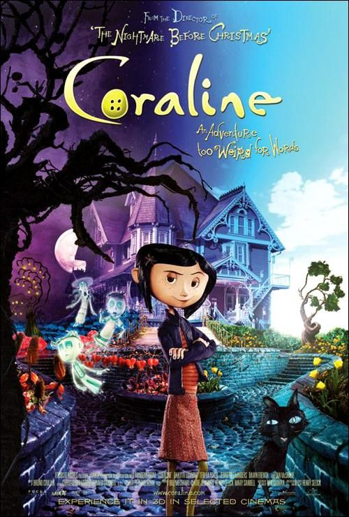 20th kid friendly halloween movie coraline 2009 an adventurous girl finds another - Kid Friendly Halloween Movie