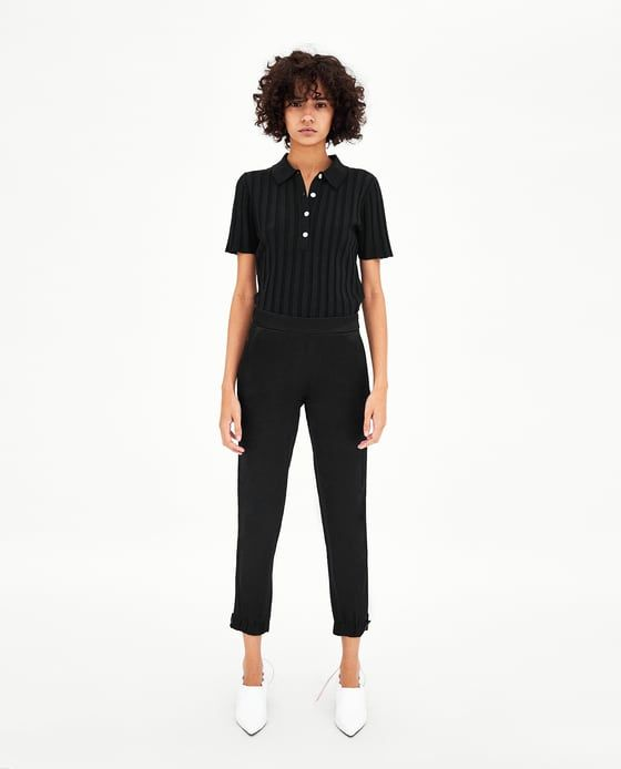 PANTALÓN SATINADO | Zara | Pantalones, Zara y Bolsillos