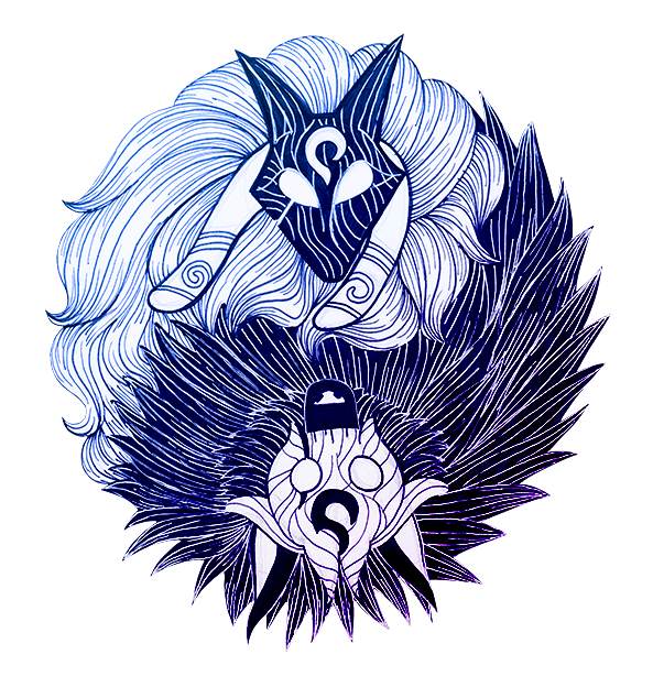 Kindred Lambs And Wolves Lol League Of Legends Art