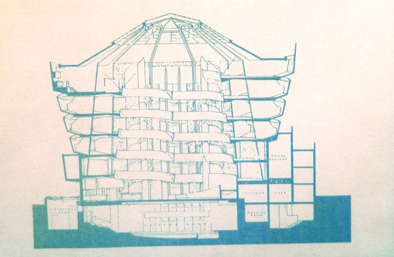 Frank lloyd wright guggenheim museum elevation blueprint flw frank lloyd wright guggenheim museum elevation blueprint flw pinterest frank lloyd wright lloyd wright and drawing models malvernweather Image collections