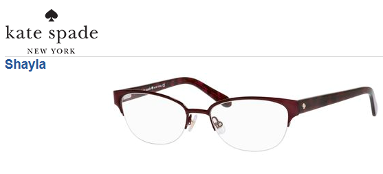 574e30b755 Kate Spade Shayla - A pretty rimless frame  KateSpade  Eyewear  Glasses   Frame