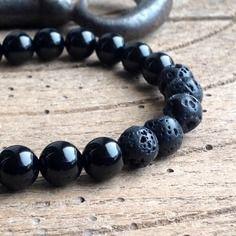 bracelet perle semi precieuse homme