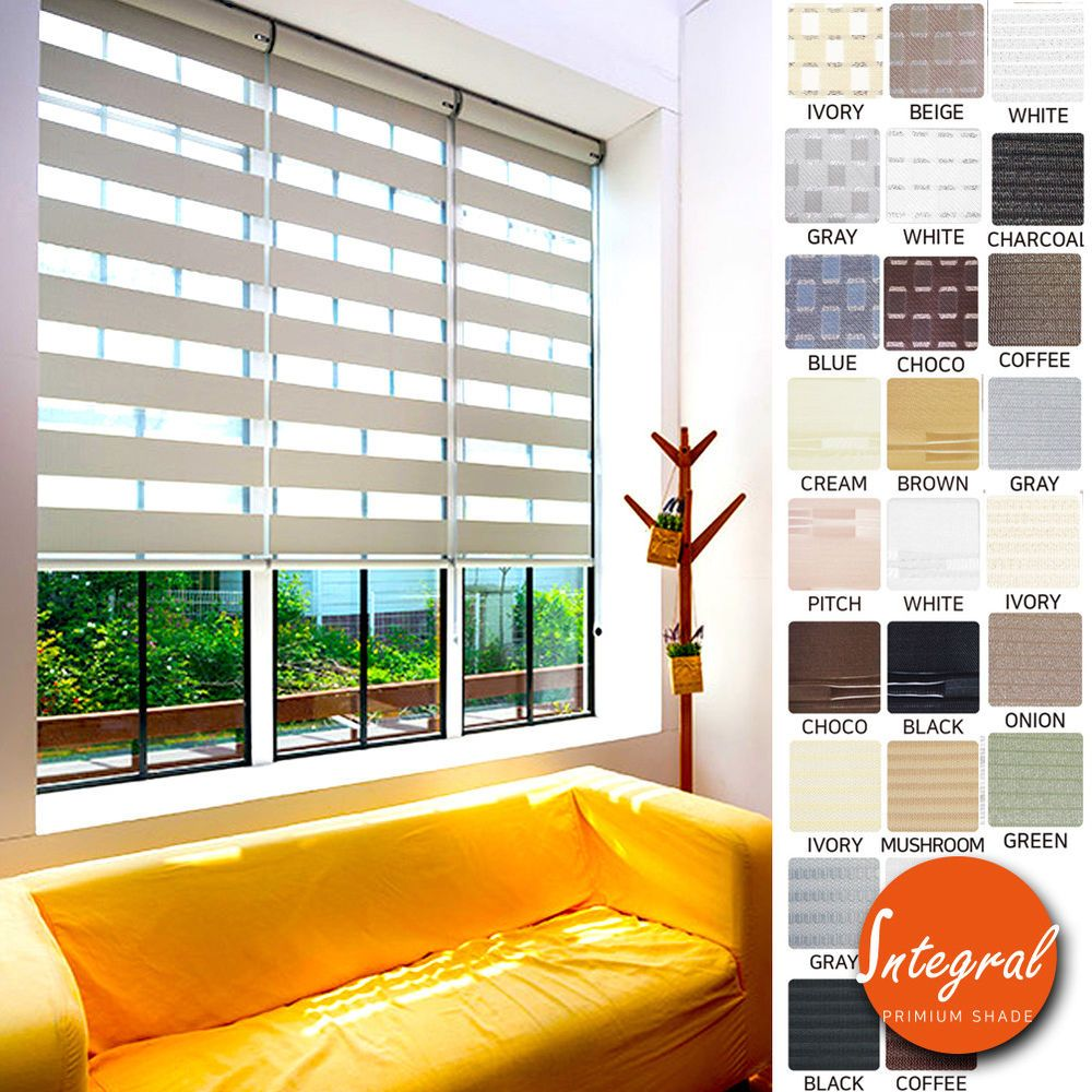 Details About Window Blinds Unique Light Filtering Sheer Shade Double Roller Shade Custom Made Blinds For Windows Blinds Sheer Shades
