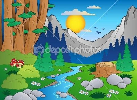 Dibujo Animado De Bosque Forest Drawing Forest Cartoon Art Drawings For Kids