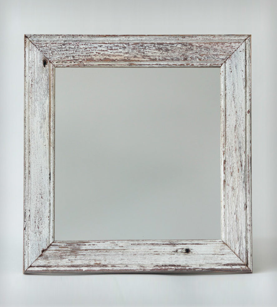 New London Reclaimed Barnwood Mirror Ortolan Organic