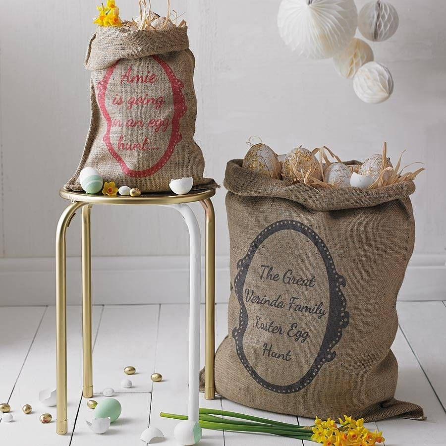 Personalised easter sack easter personalised easter sack by catherine colebrook notonthehighstreet negle Choice Image