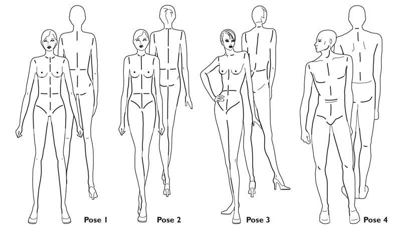 (Fayci Tage): Desenho de moda (tutoriais de croqui para