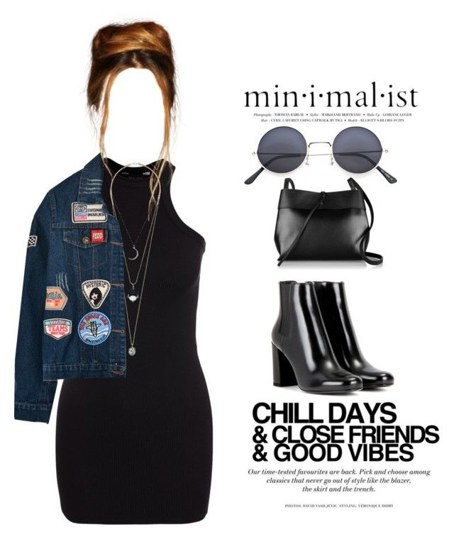 """""""THAT'S 90"""" by melanie-pacheco ❤ liked on Polyvore featuring New Look, Yves Saint Laurent, Topshop, Chicnova Fashion, H&M and Kara"""