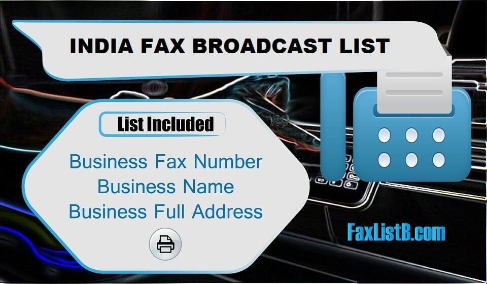 Indiafaxbroadcastlist in 2020 broadcast list fax