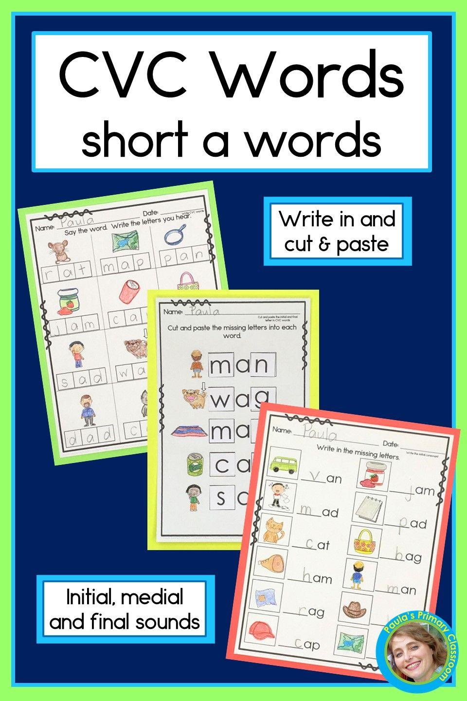 Cvc Words Worksheets Short A Cvc Words Cvc Words Worksheets Reading Cvc Words [ 1440 x 960 Pixel ]