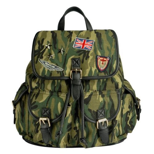 Casual Army Green Personalized Camouflage Casual Canvas Backpack | eBay
