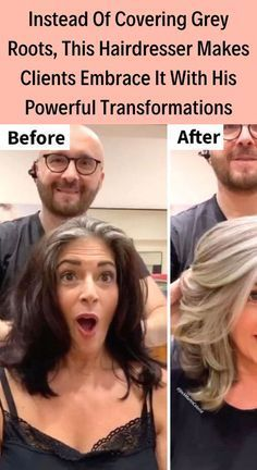 Instead Of Covering Grey Roots, This Hairdresser M