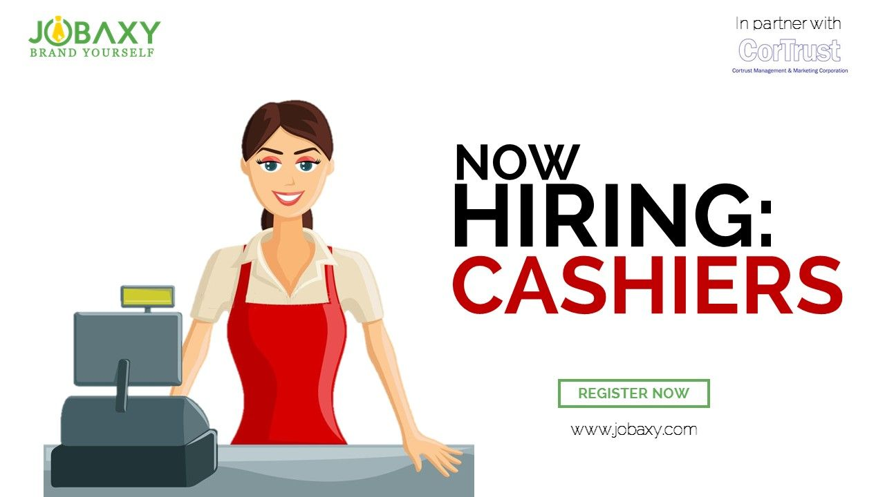 Jobseekers, we are looking for Cashiers!! Register www