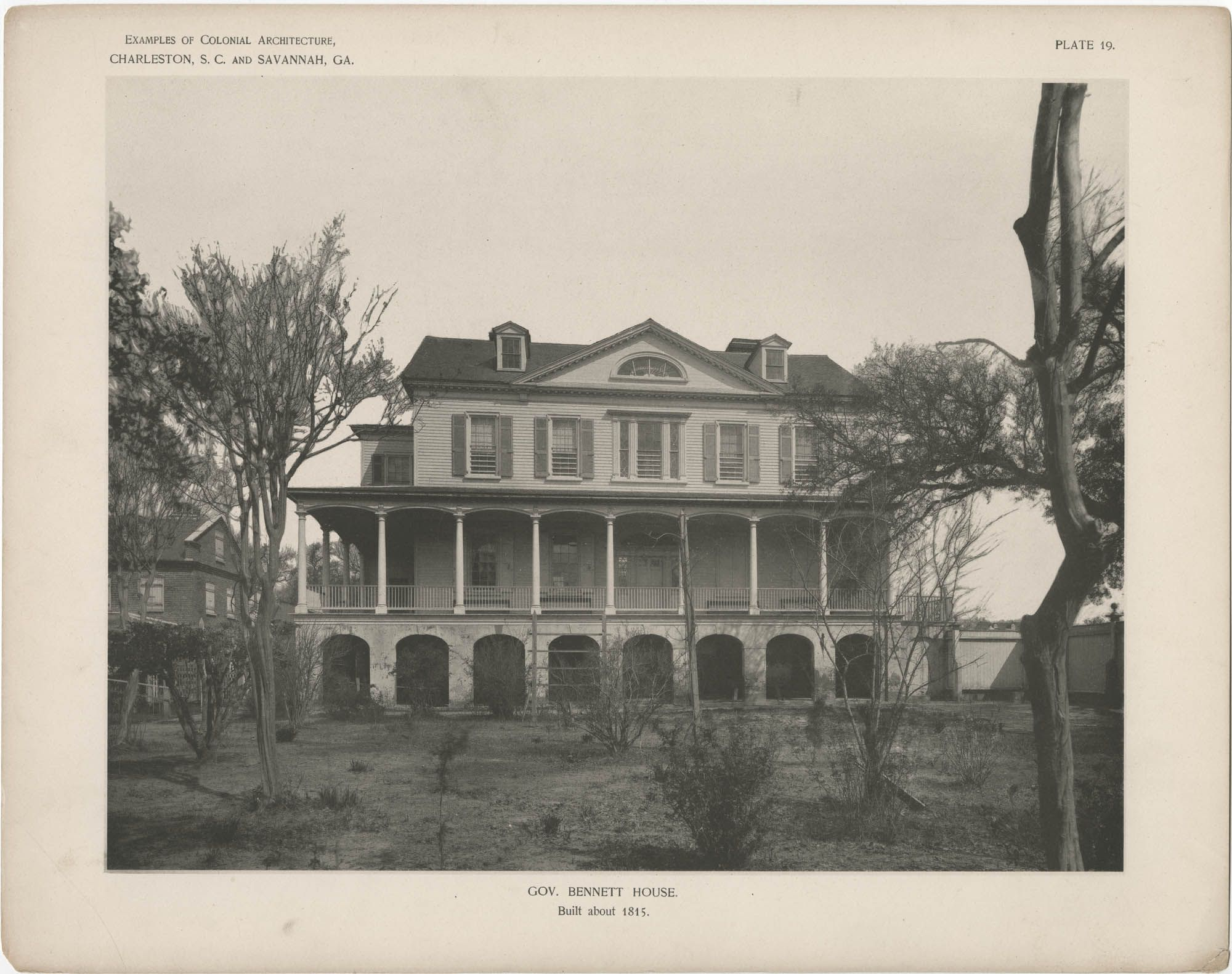 Examples Of Colonial Architecture In Charleston S C And Savannah Ga Gov Bennett House 181 Colonial Architecture Charleston Sc History Antebellum Homes