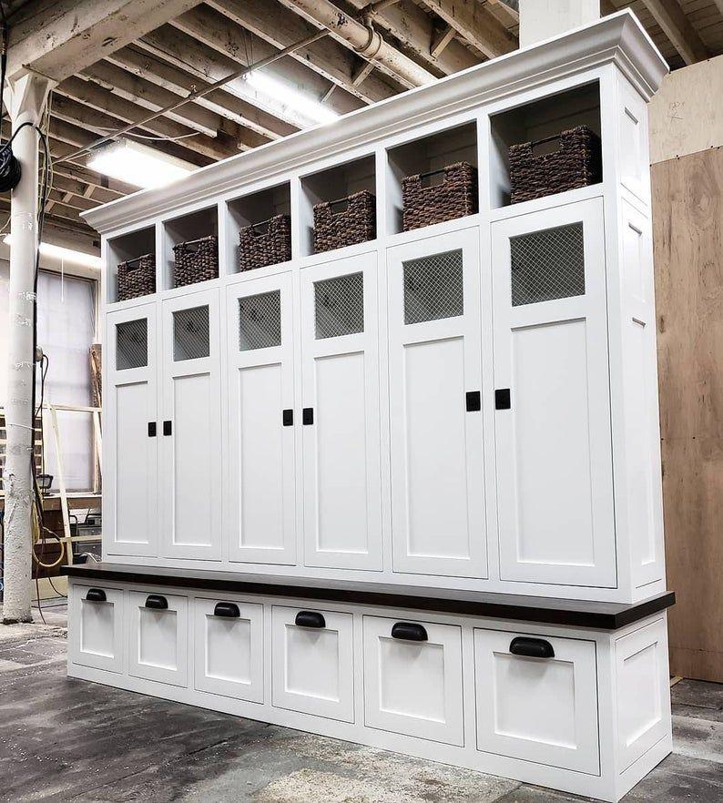 The Shaker Georgia Mudroom Lockers Bench Storage Cubbies Coat Rack