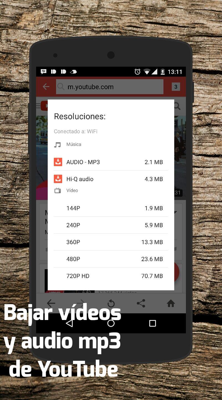 Android Como Bajar Videos Y Musica De Youtube En Mp3 Aplicacion
