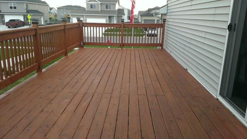 the deck after using cabot stain 1417 new redwood the. Black Bedroom Furniture Sets. Home Design Ideas