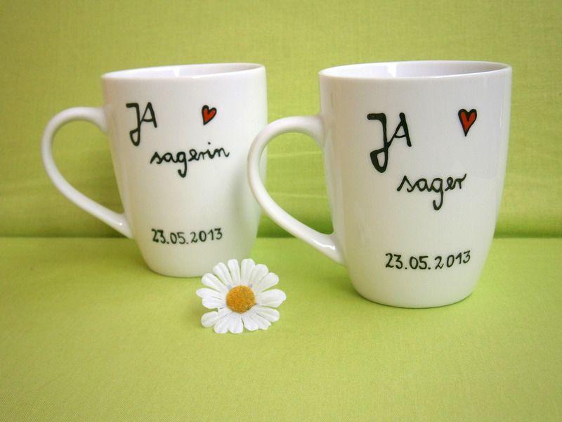 HOCHDIETASSEN Hochzeit JA  sager  Hochzeitsgeschenk Tasse 2x | Etsy