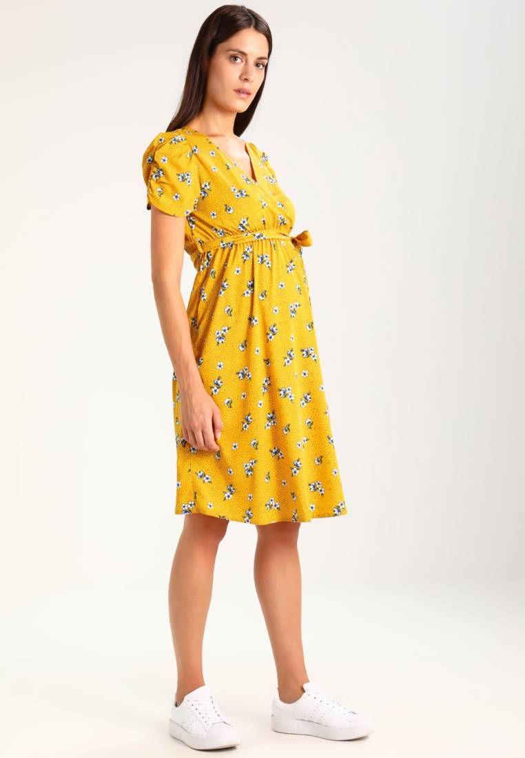 3142bbf89654 New Look Maternity. SUE FLORAL PUFF SLEEVE - Vestito estivo - yellow .  Avvertenze