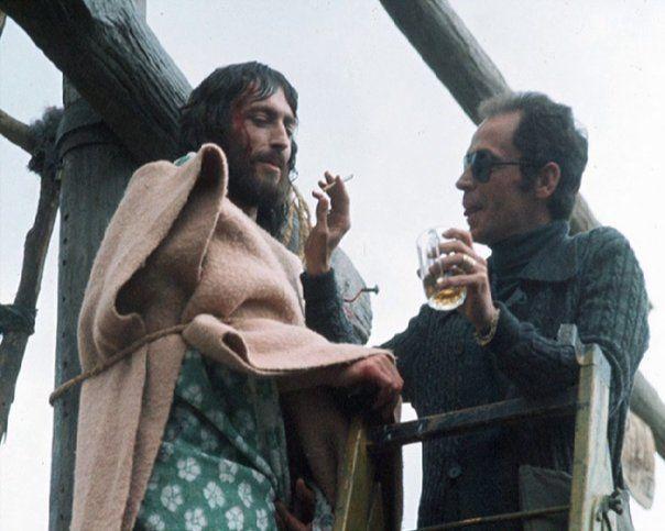 Robert Powell On The Set Of Jesus Of Nazareth Cinema Shows