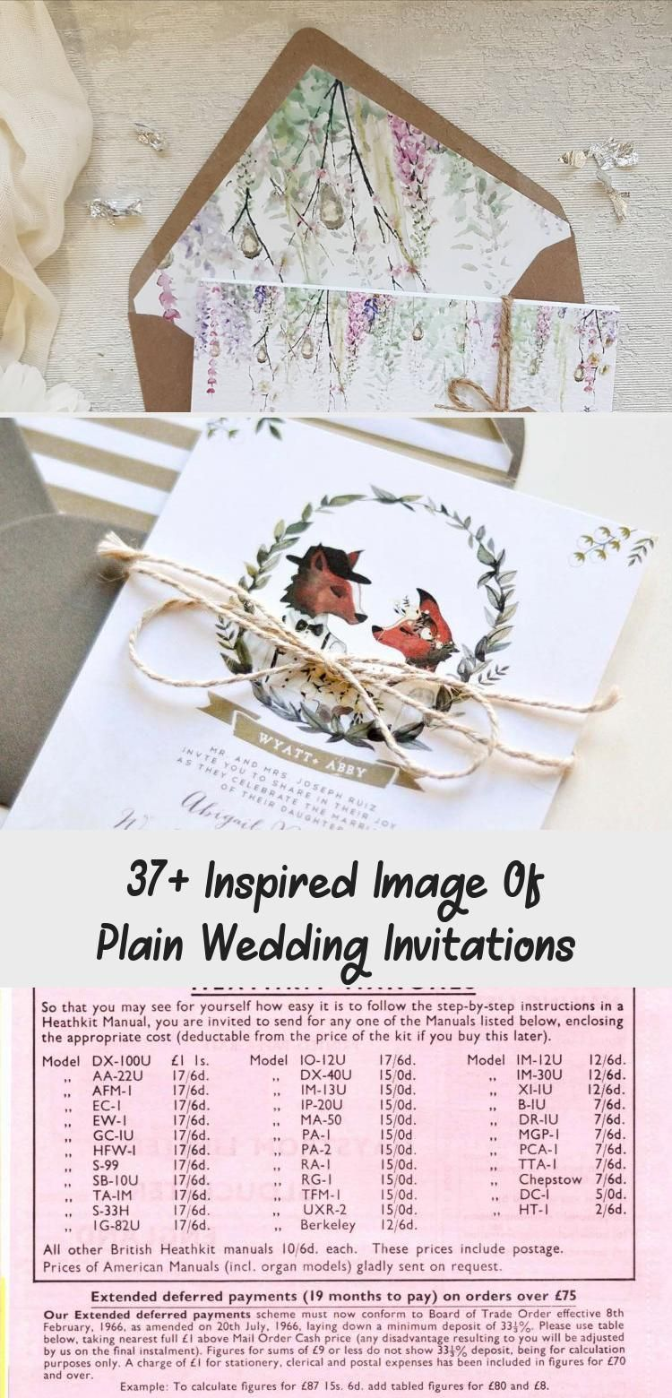 37+ Inspired Image Of Plain Wedding Invitations in 2020