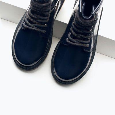Lakierowane Botki Sznurowane Buty Dziewczynka 4 14 Lat Dzieci Sperry Sneaker Vans Sneaker Zara