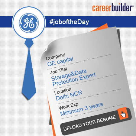 GE is looking for a Storage & Data Protection Expert in
