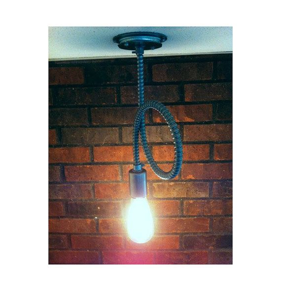 Flex conduit Industrial pendant light exposed conduit bare