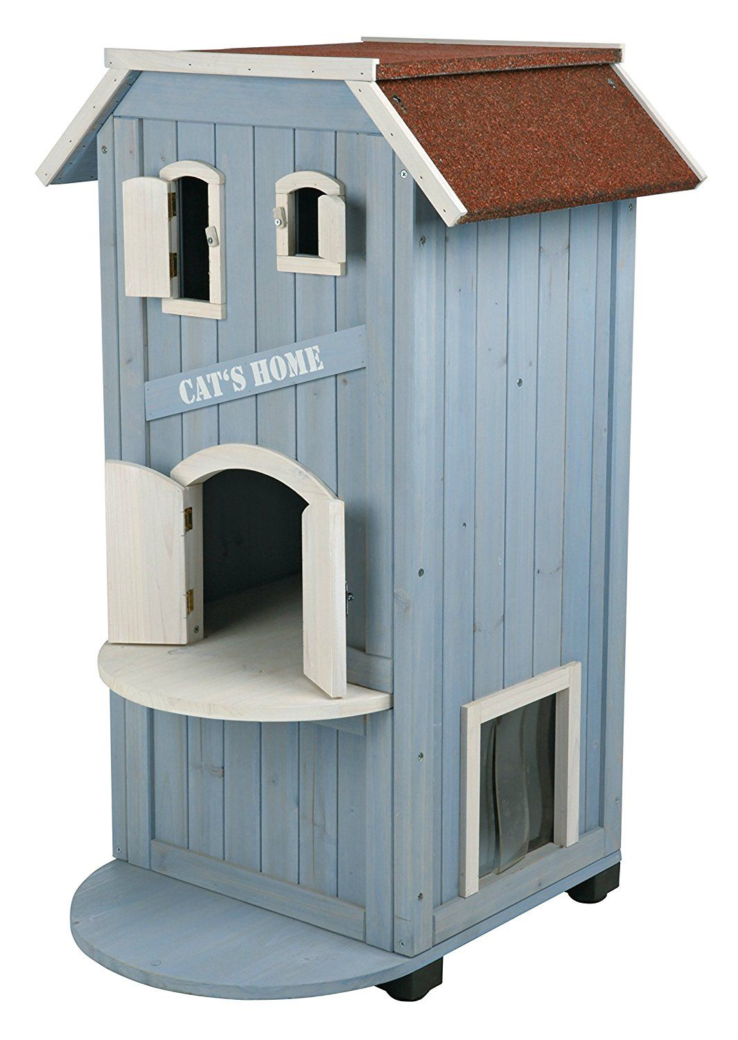 Large Cats Home Luxury Cat Shelter Outdoor Indoor Kitty Condo Pet Kit Playhouse To View Further Visit Now C Outdoor Cat House Wooden Cat House Cat House