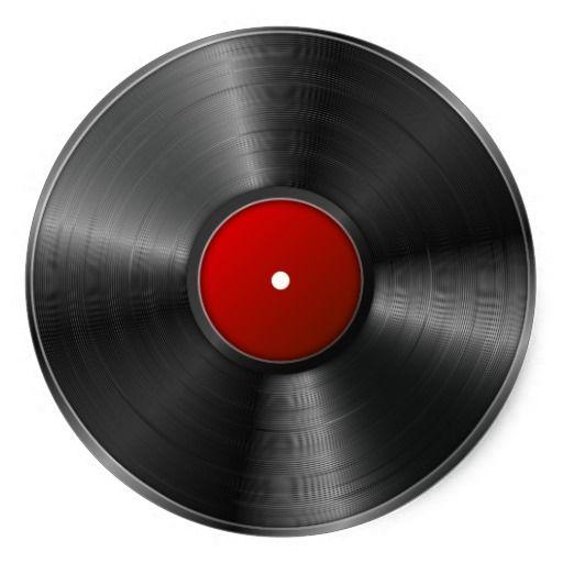 Isolated Vinyl Record Classic Round Sticker Zazzle Com In 2020 Vinyl Records Clip Art Art Images