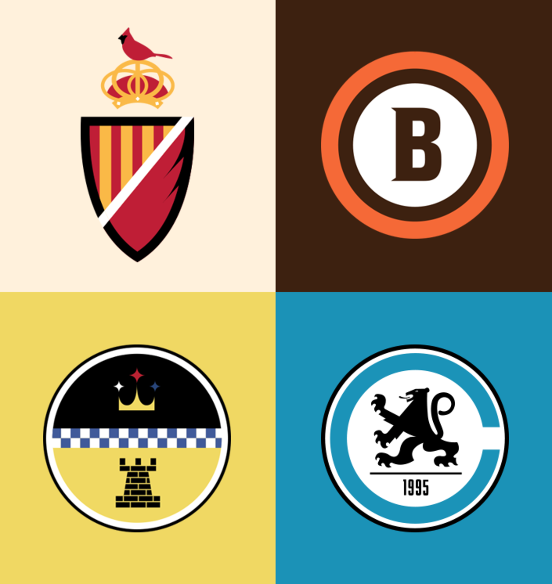 Football As Football Nfl Logos As Soccer Badges Nfl Logo Team Logo Design Logos