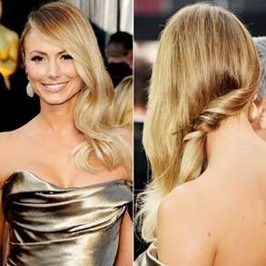 Great Wedding Hairstyle For A One Shoulder Dress Oscar Hairstyles Hair Styles Red Carpet Hair