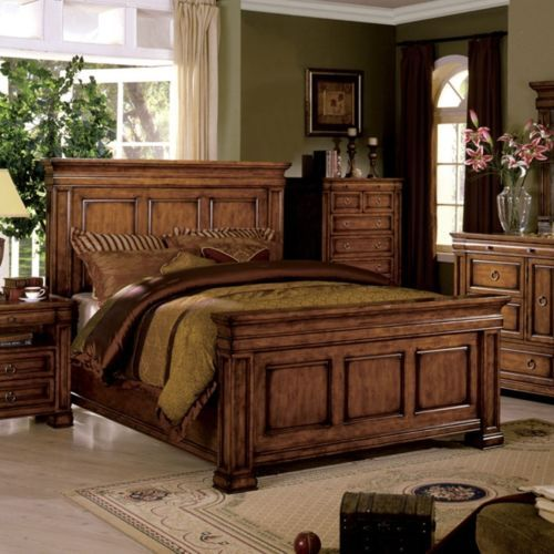 Cambridge Eastern King Size Bed Oak Finish Solid Wood Panel Bed Oak Bedroom Furniture Sets Oak Bedroom Furniture Solid Oak Bedroom Furniture