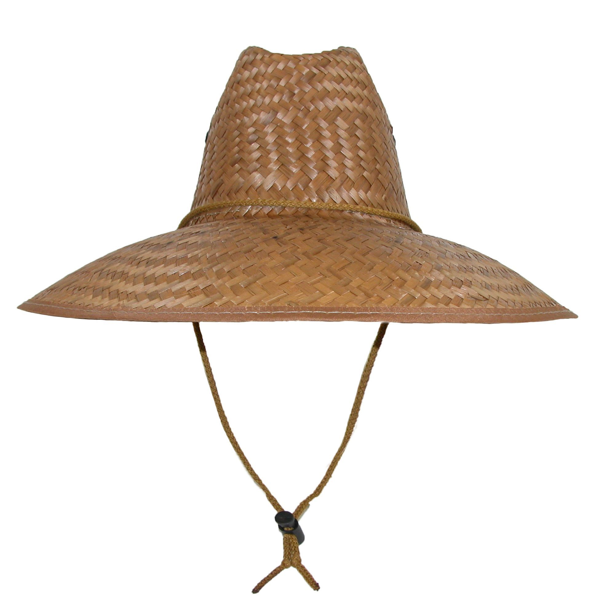 CTM Palm Straw Lifeguard Hat with 5 Inch Brim  7e79729b305