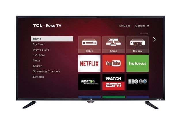 A Roku Enabled Smart Tv That Ll Corral Cable Apps And Gaming For The Ultimate Lazy Weekend Experience Led Tv Smart Tv Lcd Television