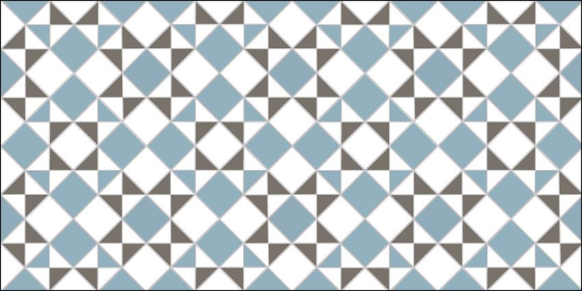 Spring 2015  Star & Star design in anthracite, blue and white