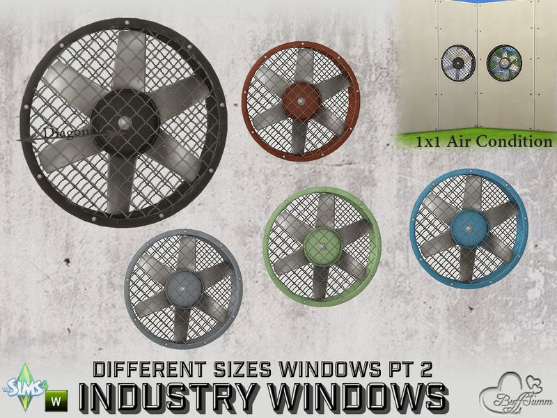 Part of the *Build Industry Set*  Found in TSR Category 'Sims 4 Windows'