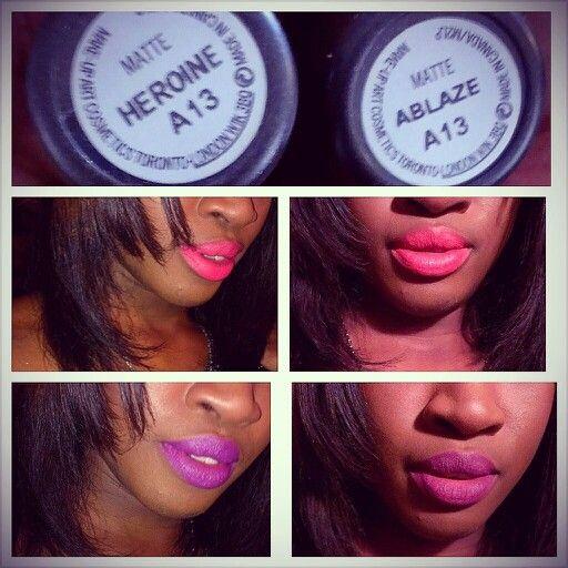 MAC Fashion Set Lipsticks In Ablaze And Heroine. #Mac