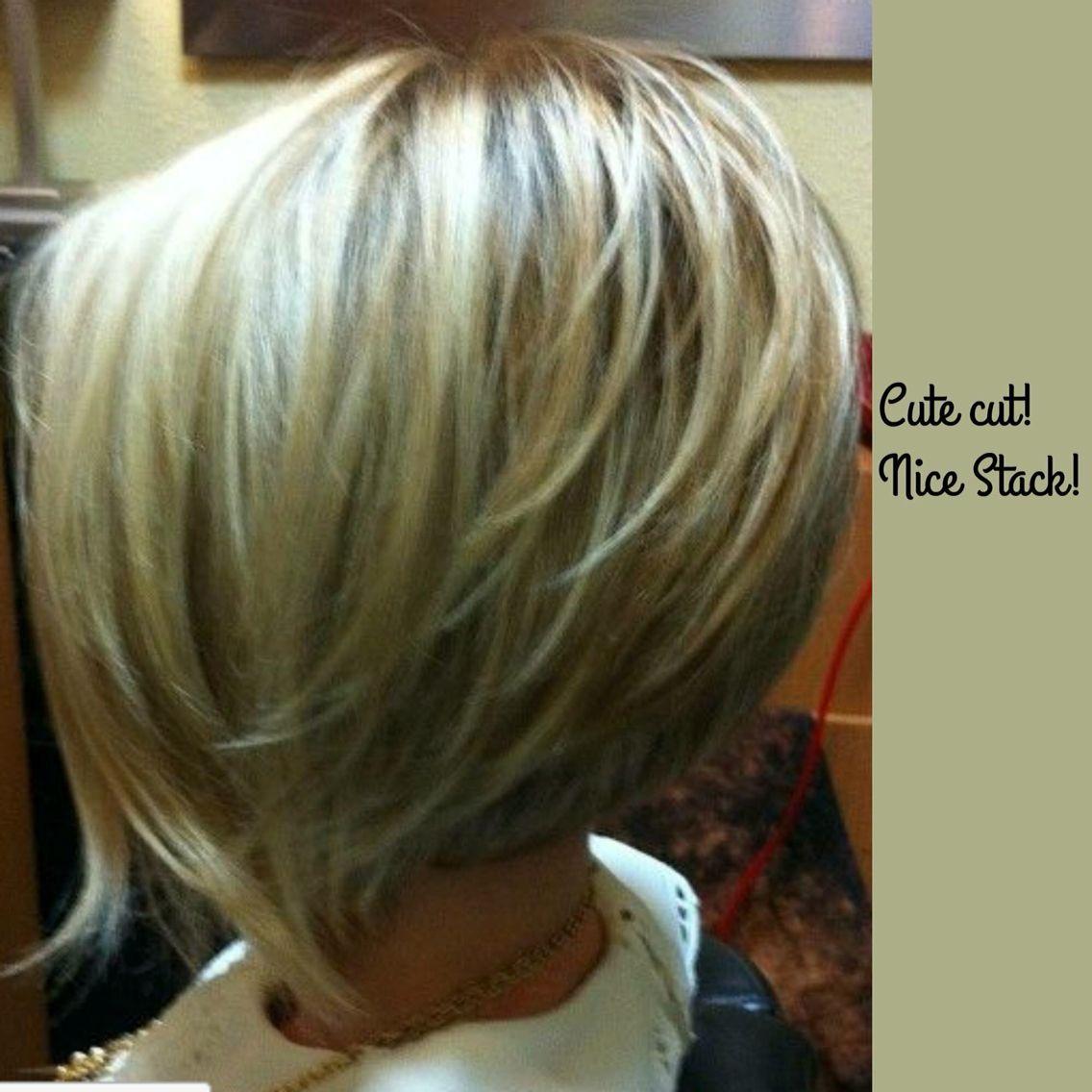 Blonde A Frame Stack Hair Short Hair Styles Hair Styles Hair