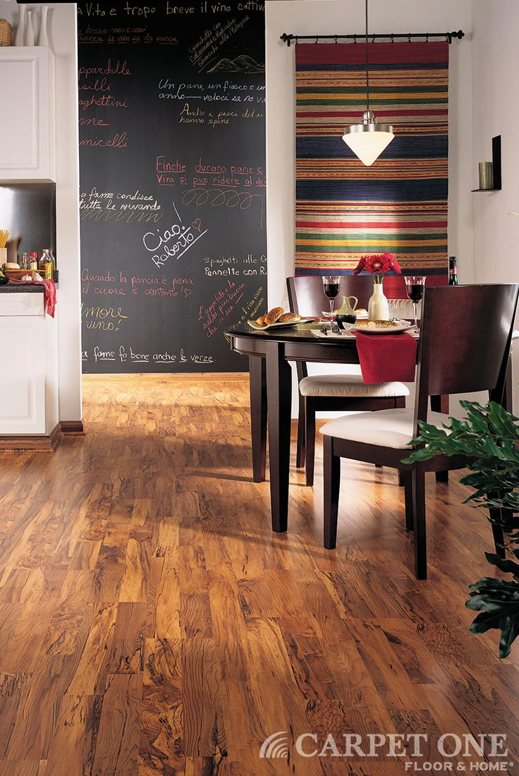 Kitchen Dining Room Flooring Pleasing Love The Pops Of Red And Of Course The Laminate Floors From Design Inspiration
