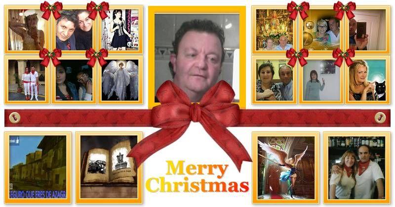 Mosaico de Navidad con amigos 16