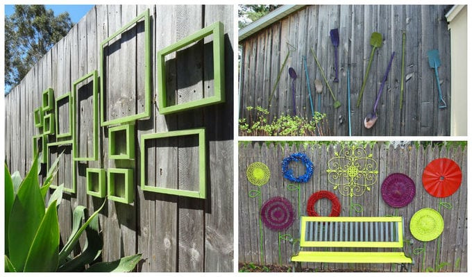 25 Incredible Diy Garden Fence Wall Art Ideas Avo Fence Supply Add Visual Appeal To Your Backyard Or Garden Fence Art Outdoor Wall Art Diy Garden Fence