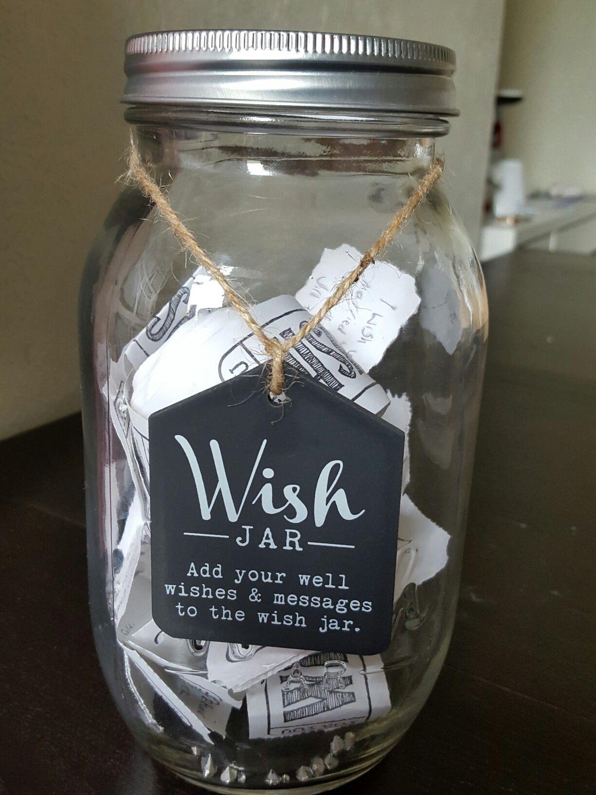 Wedding wish/memory jar