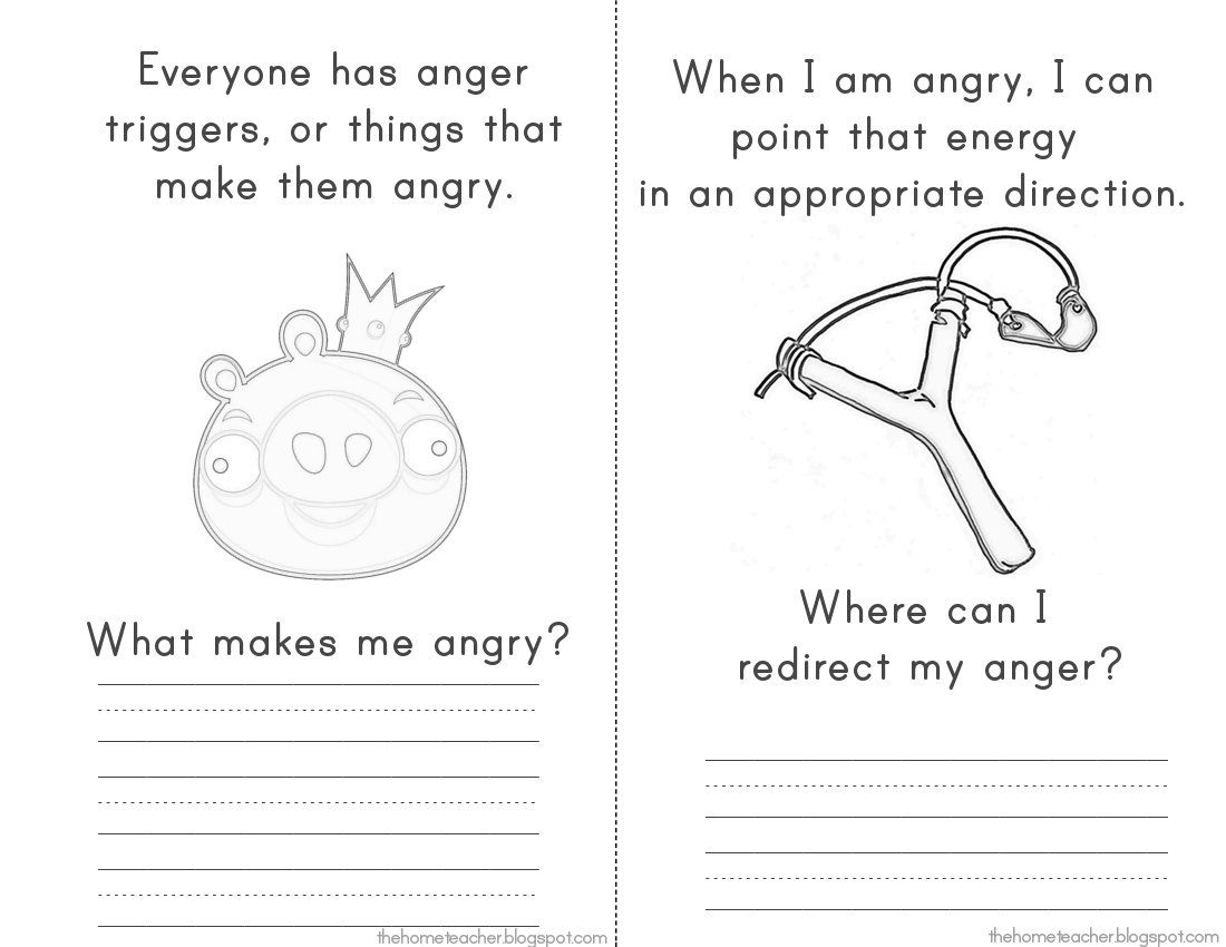 Worksheets Anger Management Therapy Worksheets the home teacher more dont be an angry bird printables work printables