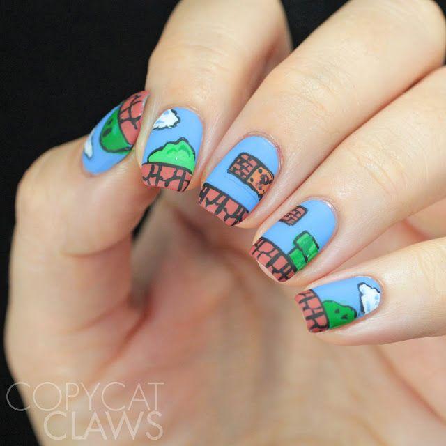Super Mario Bros Nail Art