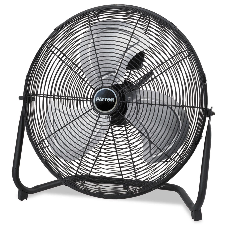 Patton High Velocity Fan Three Speed Black 8 58 Inch Wide