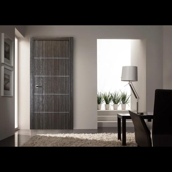 Flush Solid Manufactured Wood Finish Palladio Standard Door Prehung Interior Doors Doors Interior Grey Oak