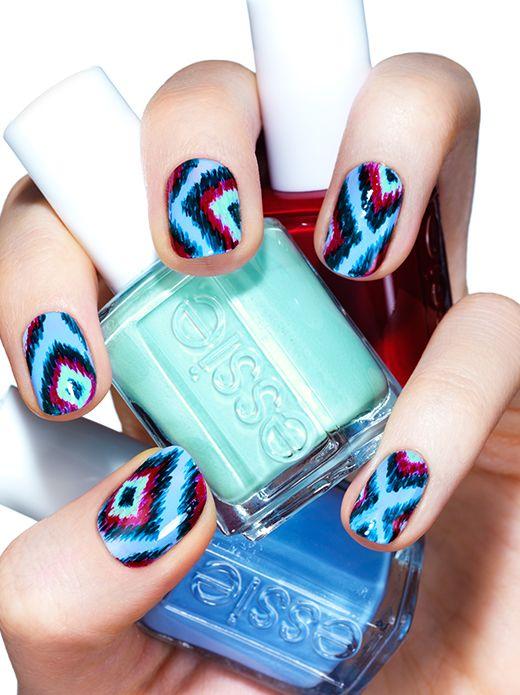 boho beauty - nail art by essie looks