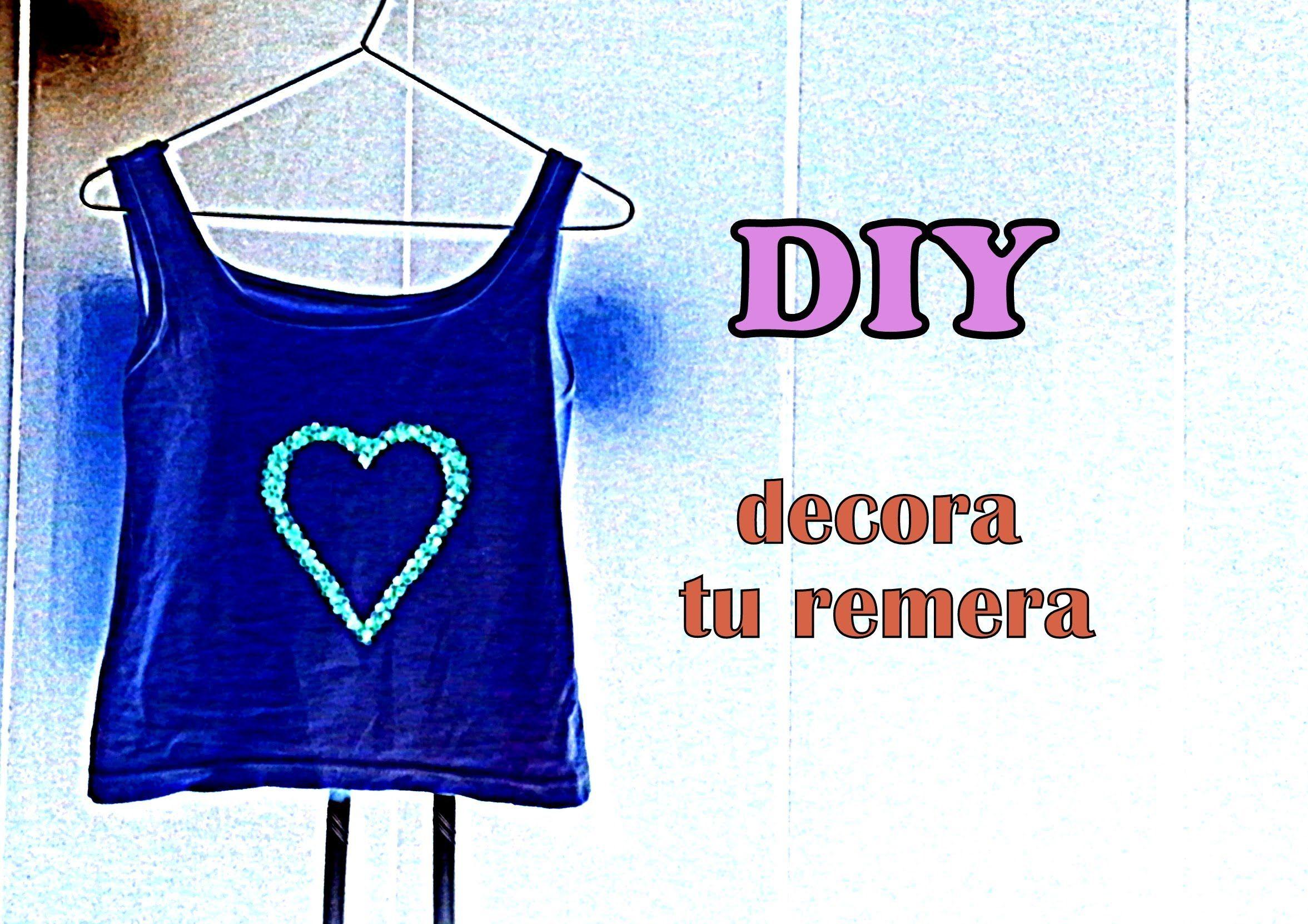 DIY decora tu remera (facil y rapido)