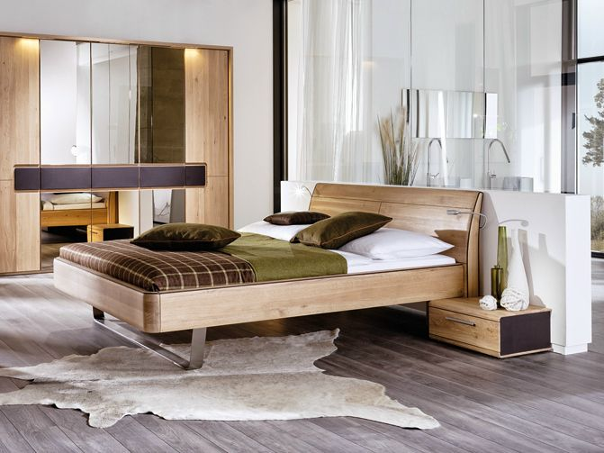 Voglauer Schlafzimmer ~ Cama doble de madera maciza colección v l i n e a by voglauer